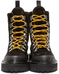 Off-White c/o Virgil Abloh Black And Silver Granite Boots
