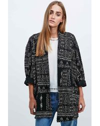 Ecote - Mudcloth Cardigan In Black - Lyst