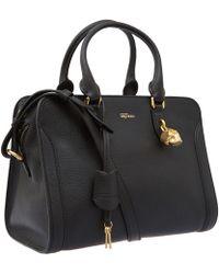 Alexander McQueen - Small Black Padlock Cross-Body Bag - Lyst
