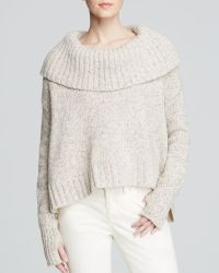 Eileen Fisher Fold Over Collar Sweater - Lyst