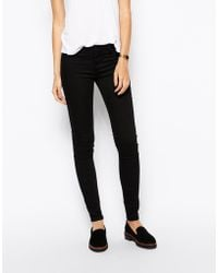 Just Female Low Waist Black Skinny Jeans