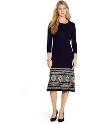 Lauren by Ralph Lauren Wool Cropped-sleeve Dress - Lyst