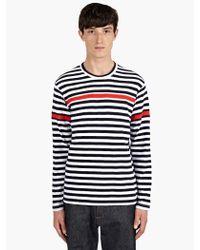 Comme Des Garçons Mens Striped Cotton Long Sleeve Tshirt - Lyst