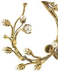 Erickson Beamon Stratosphere Faux-Pearl & Crystal Ear Cuffs - Metallic