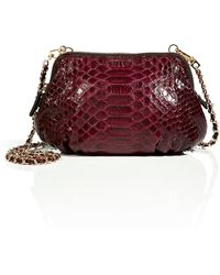 Zagliani - Python Praline Crossbody Bag in Dark Red - Lyst
