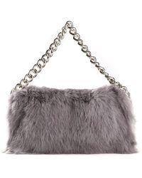 Alexander McQueen Fur Bag - Lyst