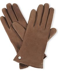 Armani Nappa Leather Gloves - For Women - Lyst