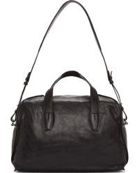 Alexander Wang Black Leather Inside_out Weekender Duffle Bag - Lyst