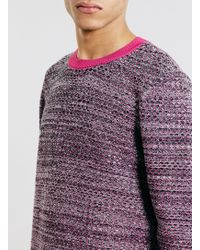 LAC - Pink Textured Crew Neck Jumper - Lyst
