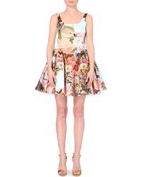 Mary Katrantzou Floral-Print Satin Dress - Lyst