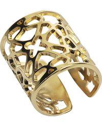 Rita & Zia Plated Gold Ring - Metallic