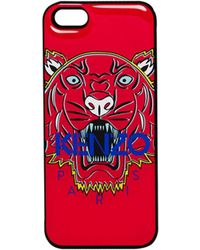 Kenzo Tiger Iphone Case red - Lyst