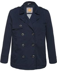 BOSS Orange - Pea Coat In A Cotton Blend With Elastane: 'omina-d' - Lyst