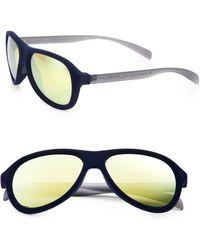 Italia Independent Velvet Aviator Sunglasses - Lyst