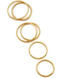 Gorjana Mixed Size Simple Ring Set - Gold - Lyst