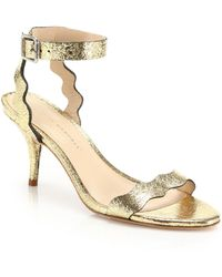 Loeffler Randall | Reina Mirrored Leather Sandals | Lyst