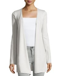 Minnie Rose   Cotton-blend Long-sleeve Duster Cardigan   Lyst