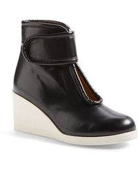 MM6 by Maison Martin Margiela Nappa-Leather Wedge Booties - Lyst