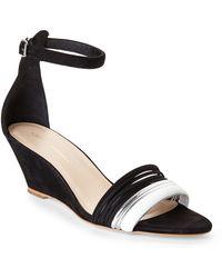Loeffler Randall Black Addie Wedge Sandals - Lyst