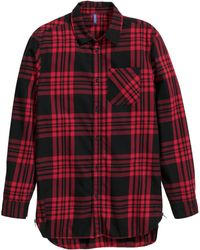 H&M Cotton Shirt With Zips - Lyst