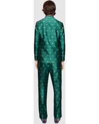Gucci Bee Jacquard Pajama Jacket - Green