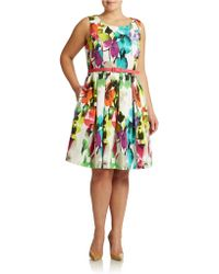 Eliza J Plus Cutout Back Fit And Flare Dress - Lyst
