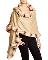 Badgley Mischka - Faux-fur Wrap - Lyst