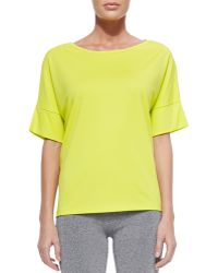 T By Alexander Wang Short Dropped-sleeve Tee - Lyst