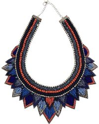 Asos Layered Triangle Bib Necklace - Lyst