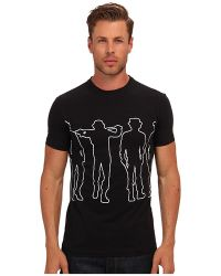 Costume National Ss Graphic Tee - Lyst