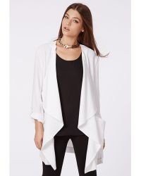 Missguided Annita Waterfall Jacket White - Lyst