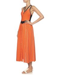 Roksanda Ilincic Orange Stripe Open Isla Skirt - Lyst