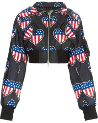 Love Moschino American Flag Hooded Zipped Up Jacket - Lyst