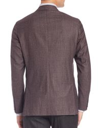 Eidos - Double-breasted Mélange Wool Sportcoat - Lyst