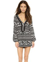 House of Harlow 1960 - Ainsley Romper - Indian Stamp/multi - Lyst