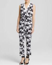 Vince Camuto Palm Harmony Print Jumpsuit - Lyst