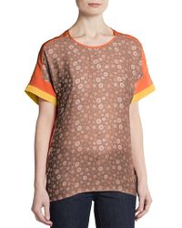 Sachin & Babi Dotted Print Short Sleeve Top - Lyst