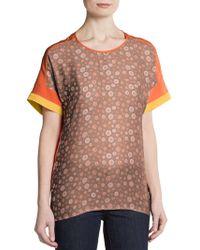 Sachin & Babi Dotted Print Short-Sleeve Top - Lyst