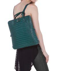 AKIRA - Croc Skin Backpack - Lyst