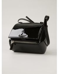 Givenchy Pandora Small Patent-Leather Shoulder Bag - Lyst