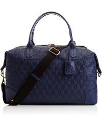 Liberty - Navy Iphis Leather Regent Weekend Bag - Lyst