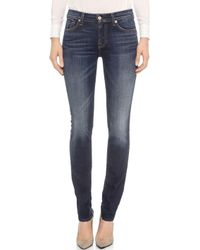 7 For All Mankind Roxanne Skinny Jeans - Alpine Blue - Lyst