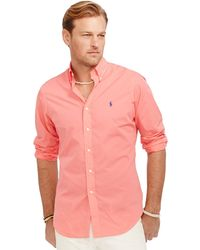 Polo Ralph Lauren Big And Tall Classic-Fit Poplin Shirt - Lyst
