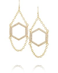 Kevia   Gold-plated Crystal Earrings   Lyst