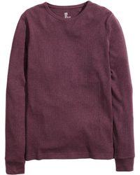 H&M | Waffle-knit T-shirt | Lyst