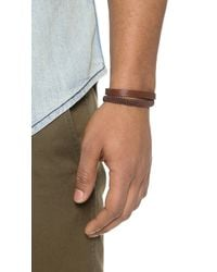 Caputo & Co. Hand Knotted Double Wrap Bracelet - Brown