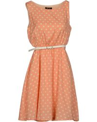 Cutie Orange Short Dress - Lyst