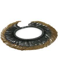 Cara Tonkin - Vesper Interchangeable Full Swing Bracelet Necklace Gold & Oxidised - Lyst