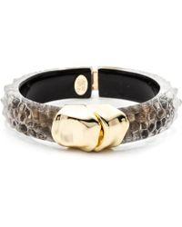 Alexis Bittar Kinshasa Liquid Crocodile Hinged Bracelet gold - Lyst