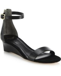 Cole Haan Rossi Leather Wedge Sandals - Lyst